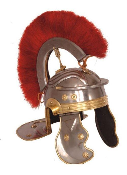 Roman Gallic G Centurion Helmet, Red Crest