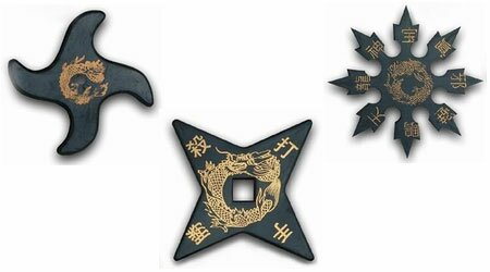 Rubber Throwing Star set of 3