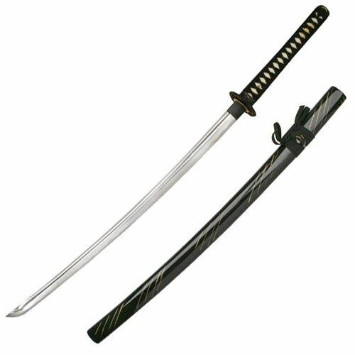 Samurai Katana - Dragon Tsuba Black