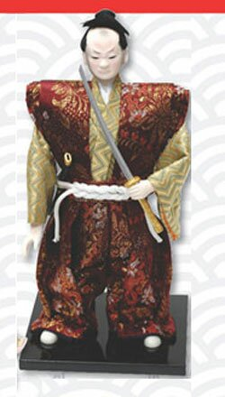 Samurai Warrior doll with katana