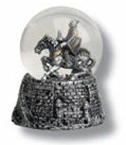 Snow globe with knight