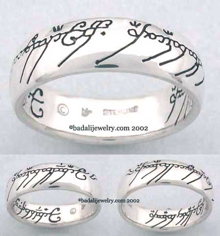 Sterling Silver The One Ring Black