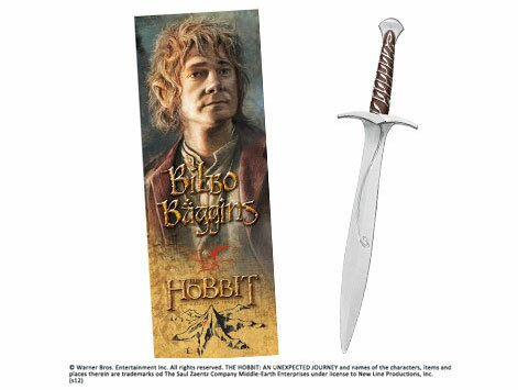 Sting Sword Pen and Paper Bookmark Noble Collection