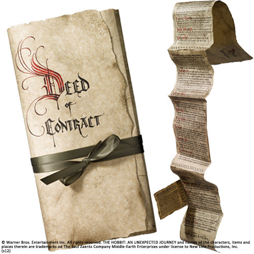 The Hobbit - Bilbo's Deed of Contract Noble Collection