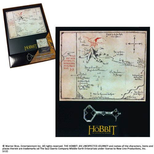 Thorin's Key and Map Black Small key Noble Collection