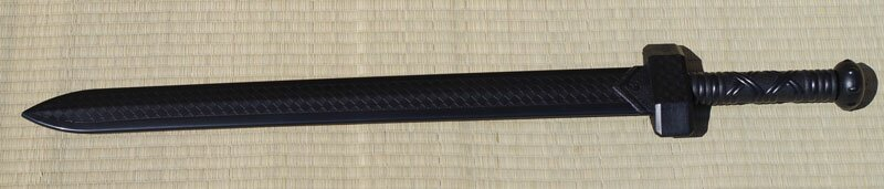 Training gladius sword PP black