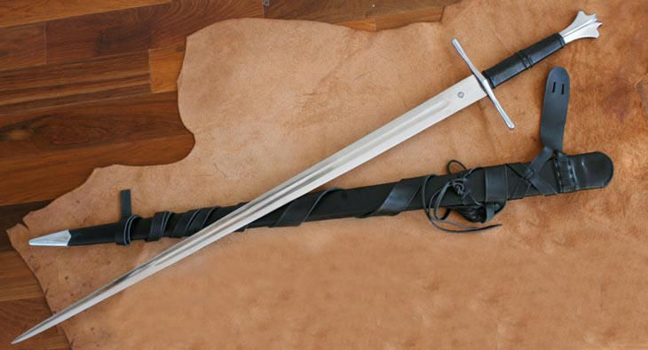 Two Handed Gothic Forged Sword DA1332