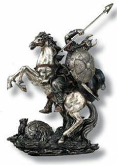 Viking on horse miniature