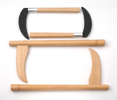 White Wood Lotus Kama - Wooden Blades